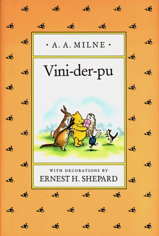 VINI-DER-PU, A Yiddish Version of Winnie-the-Pooh A.A. Milne