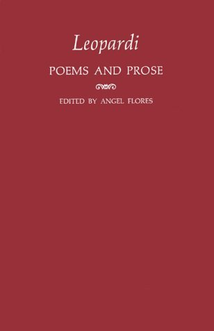 Poems and Prose  by  Giacomo Leopardi