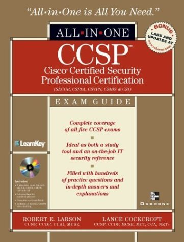 CCSP: Cisco Certified Security Professional Certification Exam Guide [With CDROM] Robert Larson