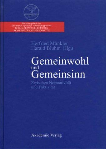 Gemeinwohl Und Gemeinsinn 4 Herfried Münkler