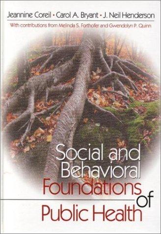 Social And Behavioral Foundations Of Public Health Jeannine Coreil
