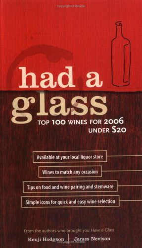 Had a Glass: The Top 100 Wines for 2006 Under $20 Kenji Hodgson