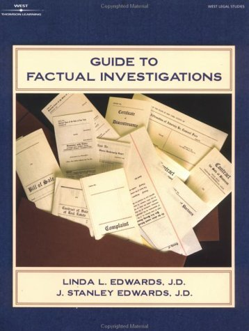 Guide To Factual Investigations (The West Legal Studies Series) Linda L. Edwards