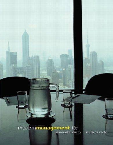 Modern Management Samuel C. Certo