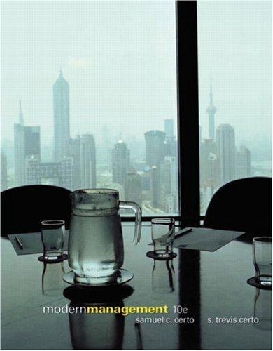Modern Management 10th Economy Edition Samuel C. Certo