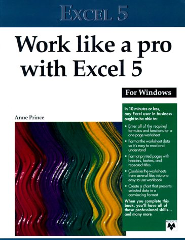 Work Like A Pro With Excel 5  by  Anne Prince