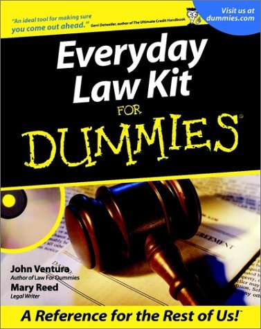 Everyday Law Kit for Dummies [With CDROM]  by  John Ventura