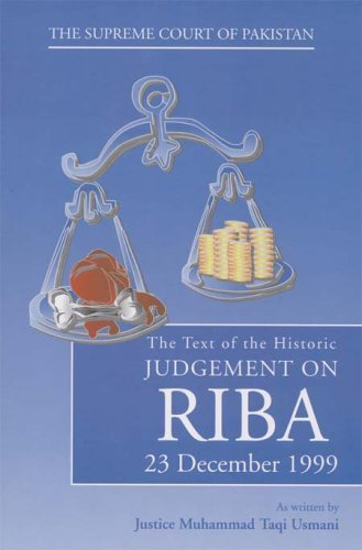 The Text Of The Historic Judgement On Riba  by  Muhammad Taqi Usmani