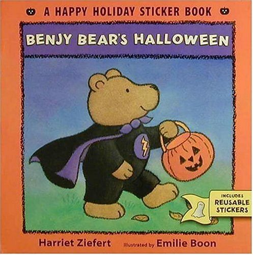 Benjy Bears Halloween (Happy Holiday Sticker Book) Harriet Ziefert