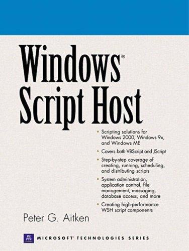 Windows Script Host Peter G. Aitken