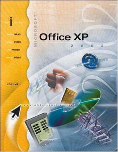 I-Series Microsoft Office XP Vol I Enhanced W/ Student CD  by  Stephen Haag