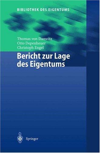 Bericht Zur Lage Des Eigentums Thomas von Danwitz