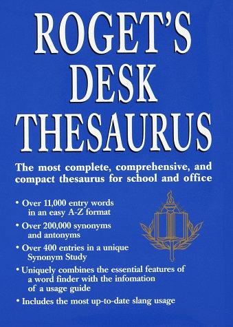 Rogets Desk Thesaurus Random House Value Publishing