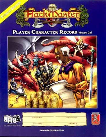 Hack Master Character Record Book Revised  by  HackMaster Development Team