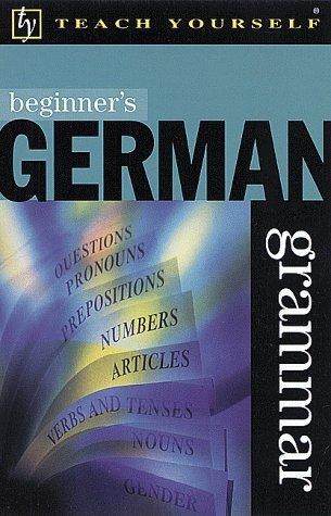 Beginners German Grammar Susan Ashworth-Fiedler