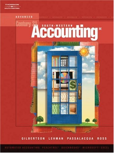 Personal Trainer for Gilbertson/Lehman/Passalacqua/Ross Century 21 Accounting: Advanced, 9th  by  Claudia B. Gilbertson
