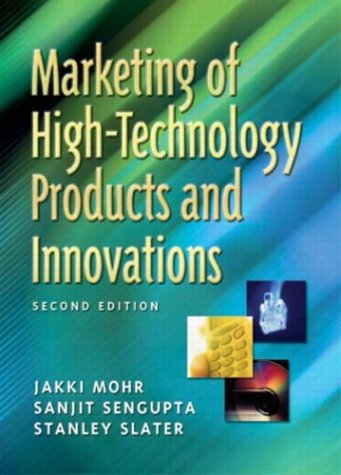 Marketing Of High Technology Products And Innovations Jakki Mohr