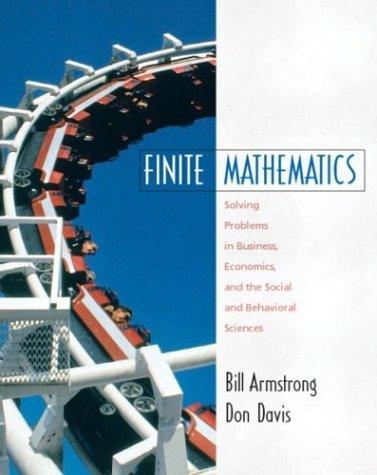 Finite Mathematics  by  Bill Armstrong