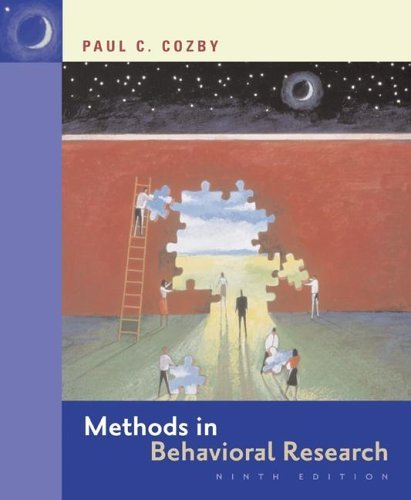 Methods In Behavioral Research Paul C. Cozby