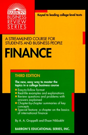 Finance  by  Angelico A. Groppelli