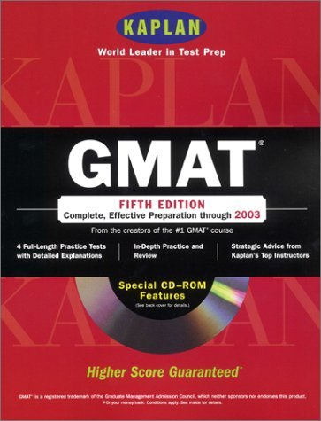 GMAT with CD-ROM: Fifth Edition Kaplan Inc.