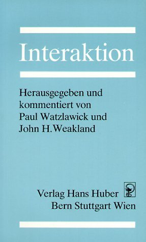 Interaktion Paul Watzlawick