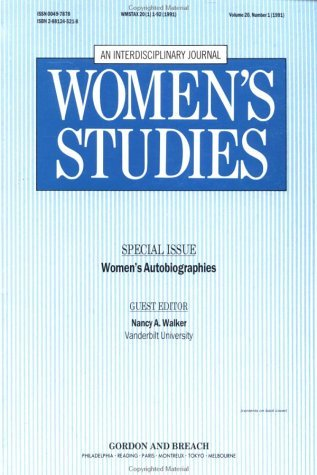 Womans Autobiographies 20#1  by  N.A. Walker