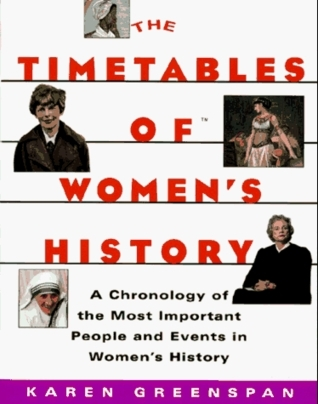 TIMETABLES OF  WOMENS HISTORY: A Chronology of the Most Important People and Events in Womens History  by  Karen Greenspan