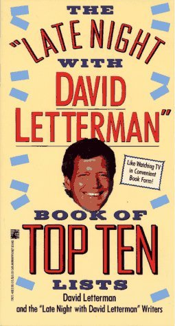 The Late Night with David Letterman Book of Top Ten Lists David Letterman