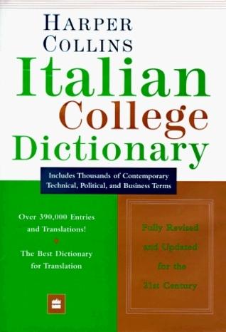 Harper Collins Italian College Dictionary Collins Publishers