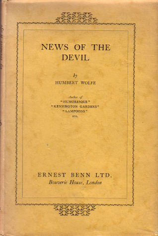 News of the Devil  by  Humbert Wolfe