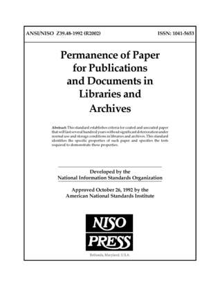 Z39.47-1993 Extended Latin Alphabet Coded Character Set for Bibliographic Use Niso Press