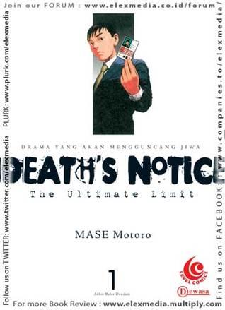DEATHS NOTICE vol. 01 (DEATHS NOTICE #01) Motoro Mase