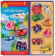 Lets Go Colors Peg Puzzle Book School Zone Publishing Company