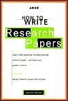 How To Write Research Papers  by  Sharon Sorenson