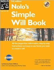 Nolos Simple Will Book [With CDROM]  by  Denis Clifford