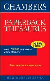Chambers Paperback Thesaurus Chambers