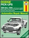 Dodge Pick-Ups Automotive Repair Manual: 1994- 1996 Edition Mike Stubblefield