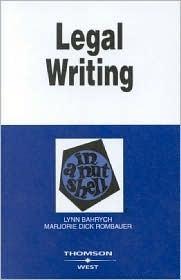 Legal Writing In A Nutshell Lynn Bahrych