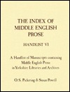 A Handlist of Manuscripts Containing Middle English Prose in Yorkshire Libraries and Archives O.S. Pickering