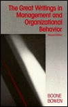 Great Writings In Management and Organizational Behavior Louis E. Boone