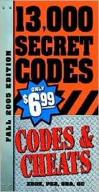 Codes & Cheats Fall 2005 Edition  by  Prima Publishing
