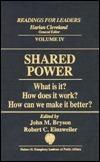 Shared Power  by  John M. Einsweiler Bryson