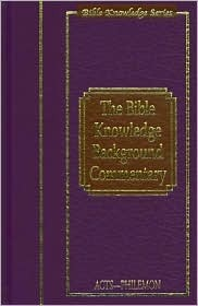Bible Knowledge Background Commentary: Acts-Philemon  by  Craig A. Evans