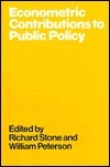 Econometric Contributions to Public Policy: Proceedings of a Conference Held the International Economic Association at Urbino, Italy by Richard Stone
