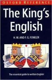 The Kings English Henry Watson Fowler