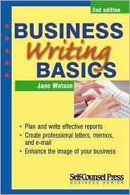 Business Writing Basics Jane Watson