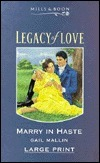 Marry in Haste  by  Gail Mallin