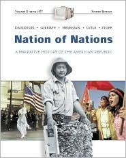 Nation of Nations, Volume 2 [With Interactive E-Source CD] James West Davidson