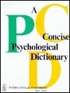 A Concise Psychological Dictionary Petr Nikolaevich Shikhirev